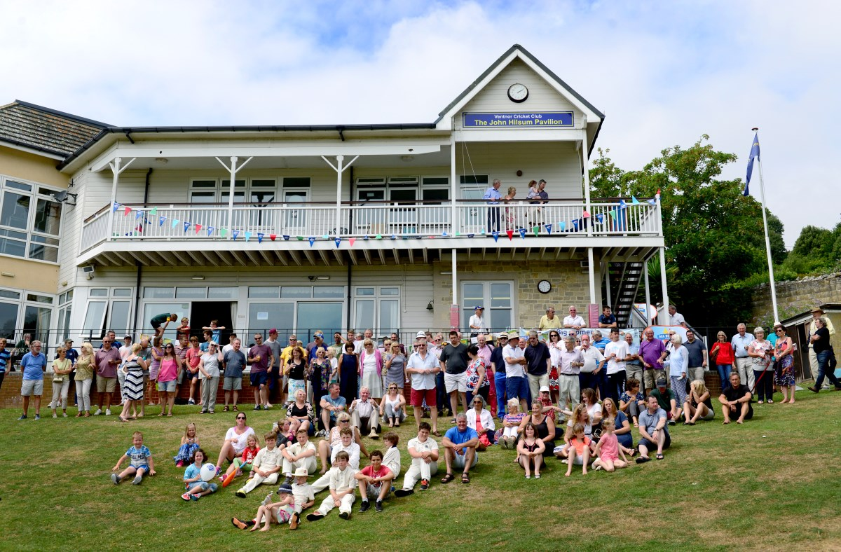 The newly named pavilion at Steephill