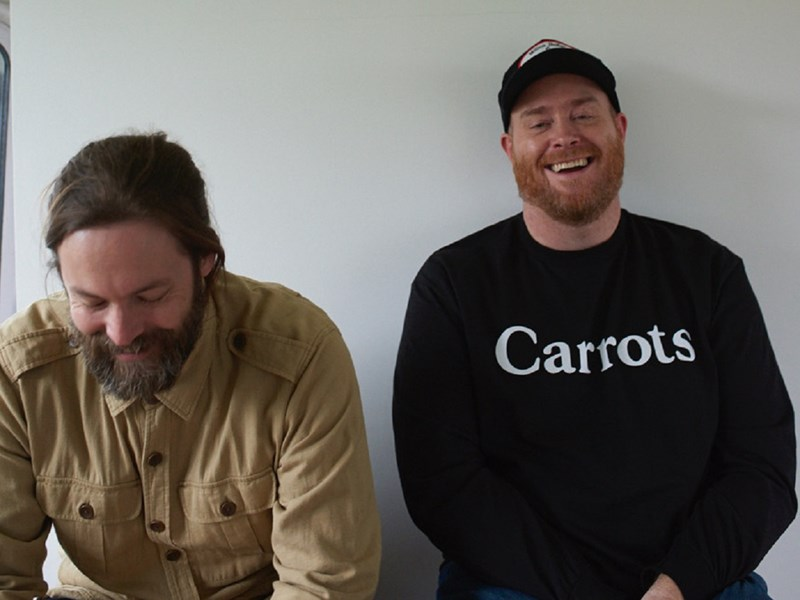 Aaron Fletcher, left, and Tim Parkin, of the new band, 77:78.