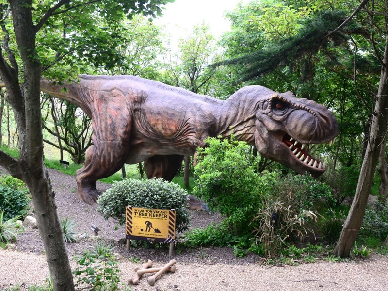 One of Blackgang Chine's famous dinosaurs.