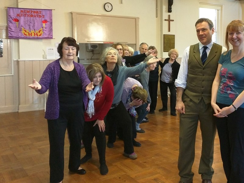 Island MP Bob Seely at the DanceMakers class.