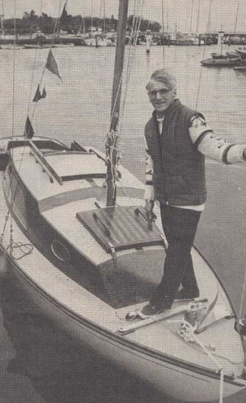 Colin Smith with his yacht Kittiwake in Yarmouth.