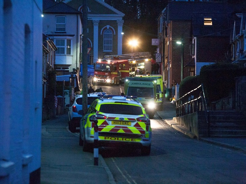 The scene of the chemical incident in April 2016 at St Mary's Road, Cowes, Isle of Wight. Picture by Debs Allan.