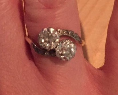 The diamond ring which was stolen from a house in St Helens. Photo via @IOWightPolice
