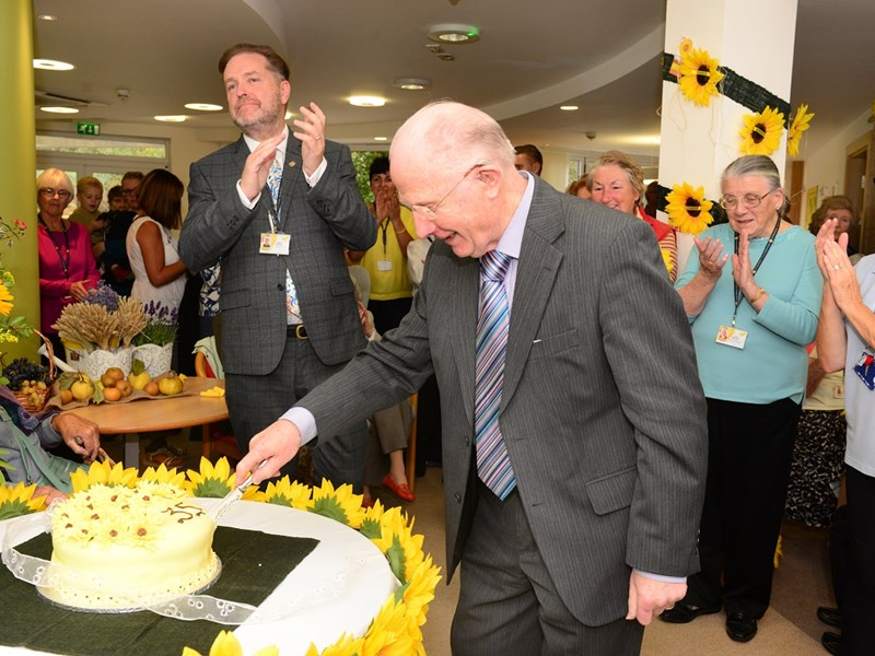 The plans were announced at the hospice's 35th anniversary celebrations. Des Murphy, the first consultant to work at the hospice, cut the cake