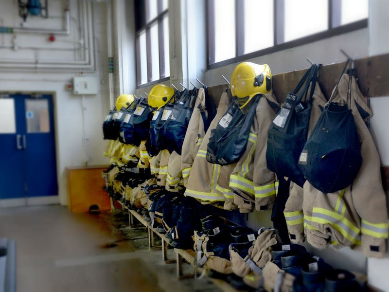 Fire crews were called to a factory in Sandown.