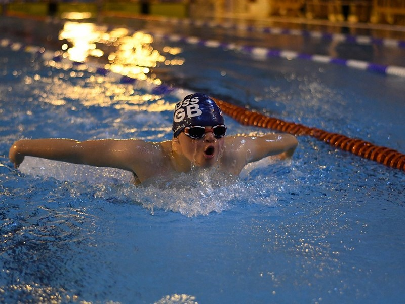 Zac Lacey competing for Great Britain at the DSISO European Championships in Paris.