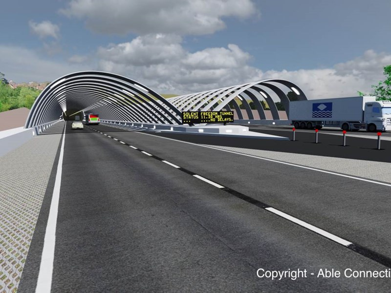Fixed link campaigners, Pro-Link, will have a meeting with the Isle of Wight Council to discuss their proposals for a tunnel to the mainland. Image courtesy of Abel Connections.