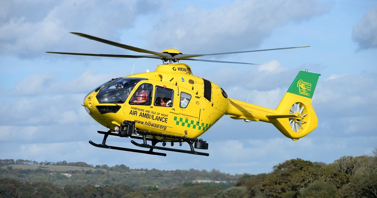 Isle Of Wight Man Airlifted From Ryde After Traumatic