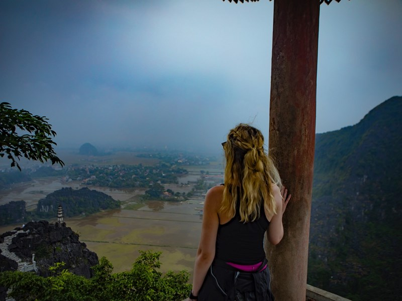 Zoe Adler at the Hung Mua Temple, Southern Vietnam. Photo by Jason Moore.