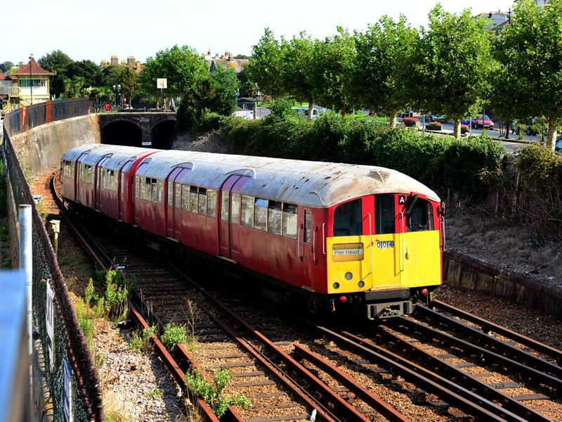 A man was arrested after entering Ryde railway tunnel.