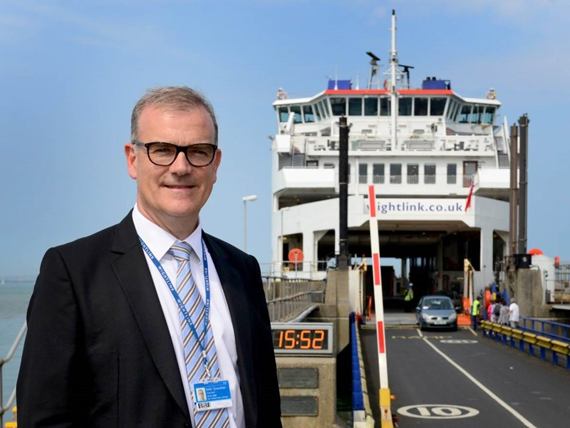 Wightlink chief executive Keith Greenfield. Picture by Peter Boam.