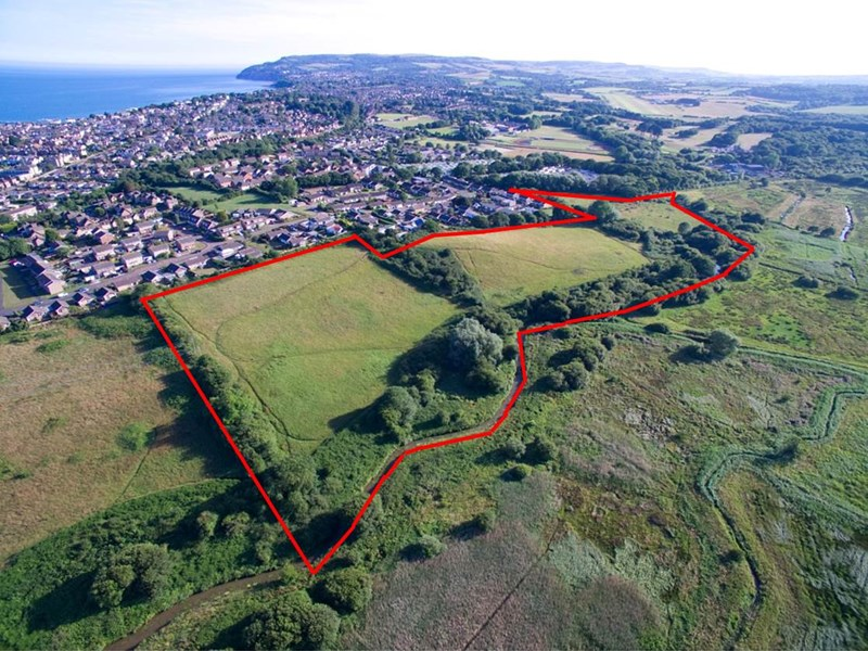 An aerial view of the Sandown land for sale. Picture courtesy of BCM.