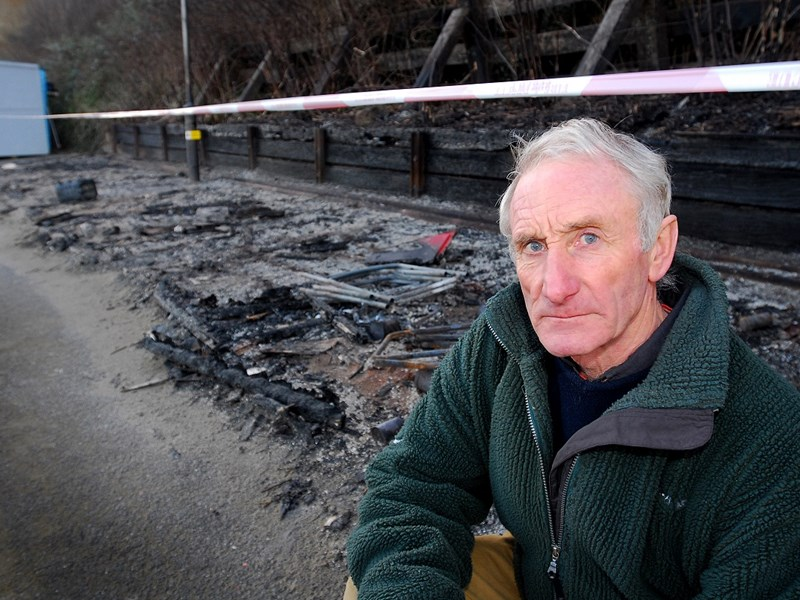 Ten years ago: Arsonists struck again at Small Hope Beach, Shanklin, razing eight beach huts. Three fire crews were called around 7am. Over the previous three years, vandals caused £35,000 in damage to 20 of the huts, owned by 67-year-old Alan Hawkins (pictured).