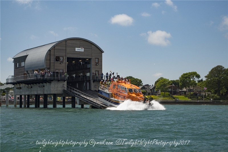 The Alfred Albert Williams is launched from the lifeboat station