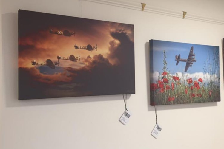 Some of the works on show at the hospice display.