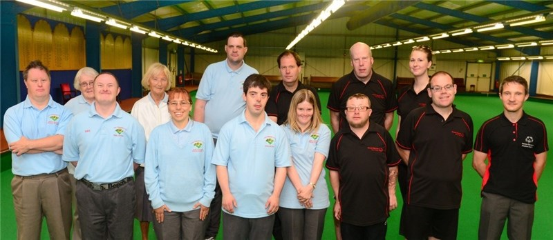 Back row, from left, coaches Celia Jordan and Susan Cretella, Kevin Wood, Jon Baker, Mark Roberts and athletics coach Sophie Slade.
