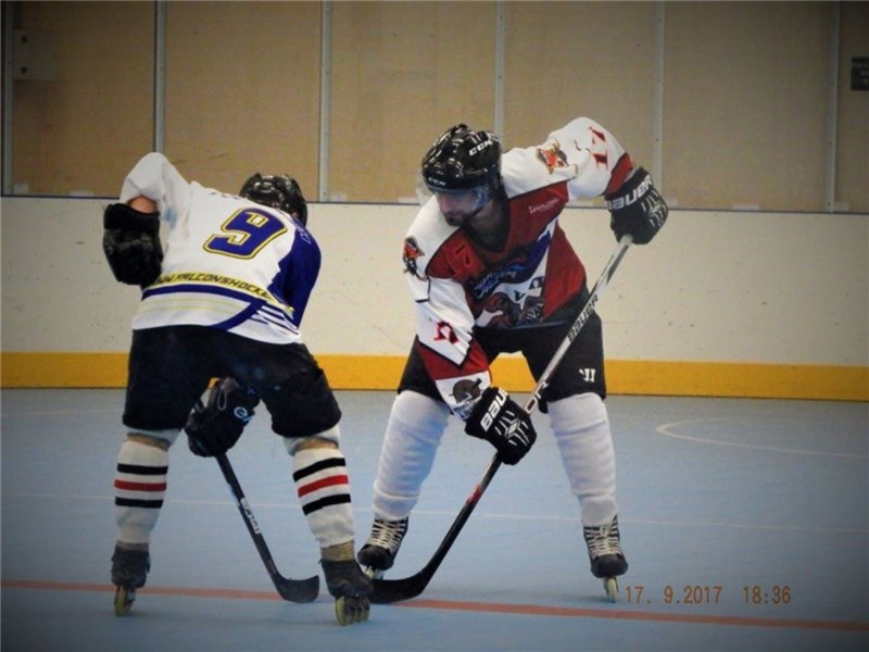 David Smith, pictured right, against Furndown Falcons. picture by Kirsty Downer
