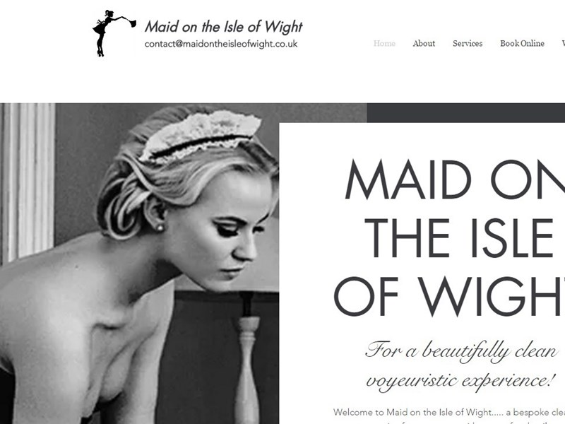 Maid on the Isle of Wight, a naked cleaning company, has launched on the Island.