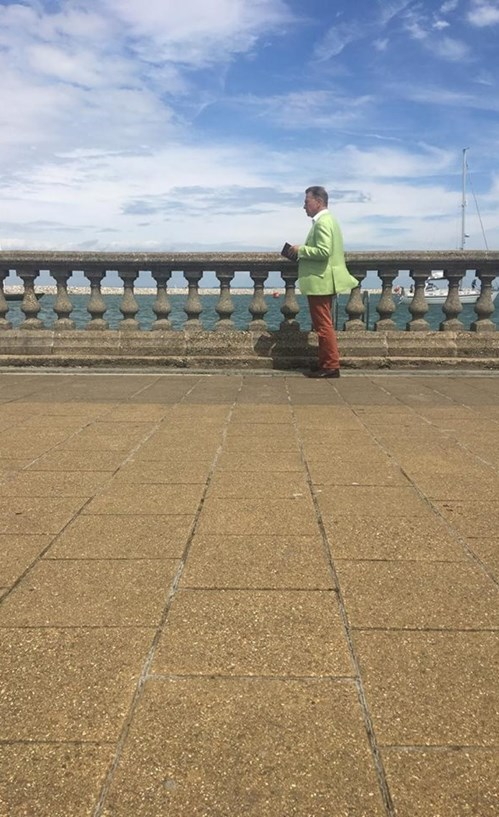 Michael Portillo enjoying the view from Cowes. Photo by Will Morris.