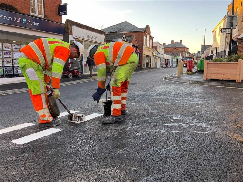 Avenue Road, Freshwater, has re-opened.