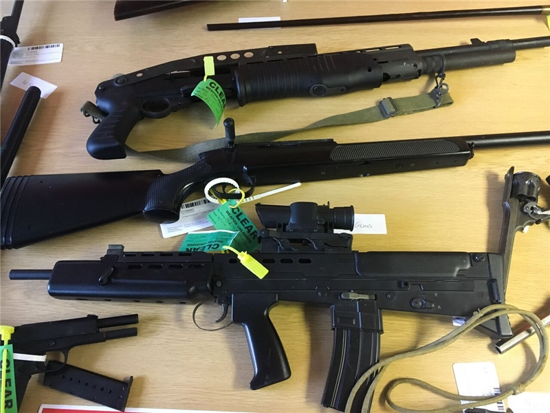 Nearly three dozen firearms surrendered on the Isle of Wight