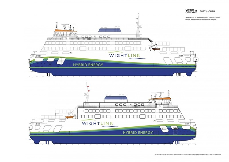 Wightlink's new ship, Victoria of Wight, will be introduced in the summer.