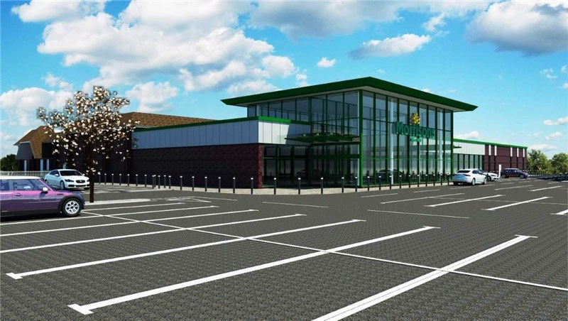 An artist's impression of the proposed Morrisons supermarket in Lake. Picture by PW Architectural Consultants Ltd.