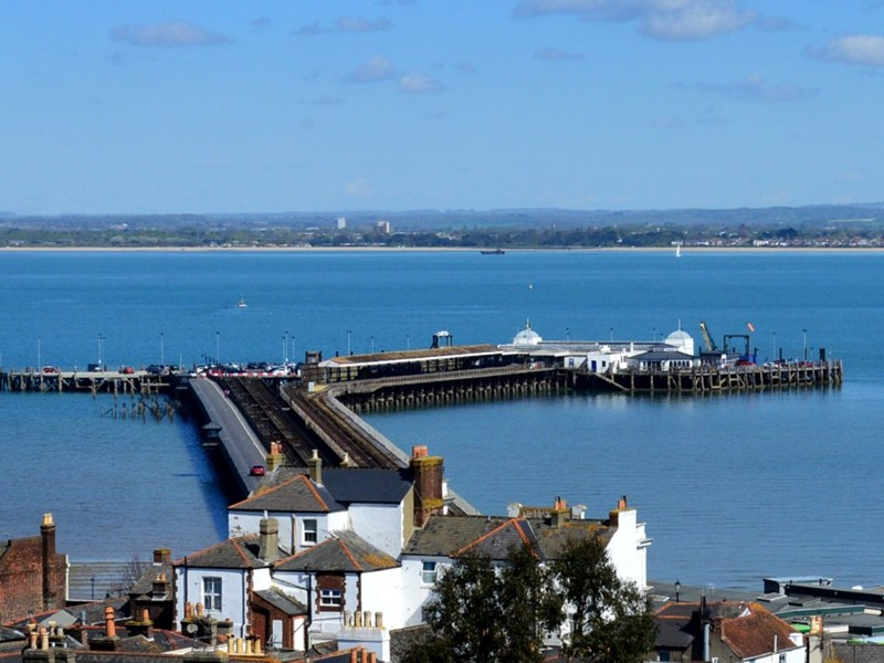 A man was arrested as he got off the Wightlink FastCat at Ryde Pier.