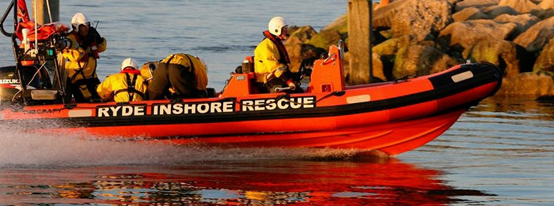 Ryde Inshore Rescue rushed the man to Ryde Harbour where a medical team was waiting.