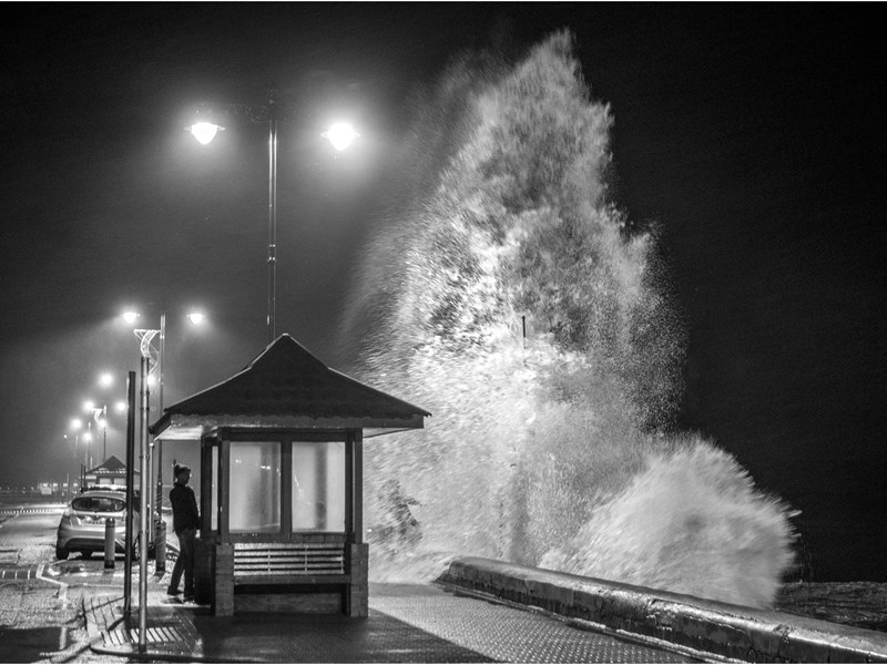 Storm Eleanor in Shanklin last night. Picture by Jamie Russell.