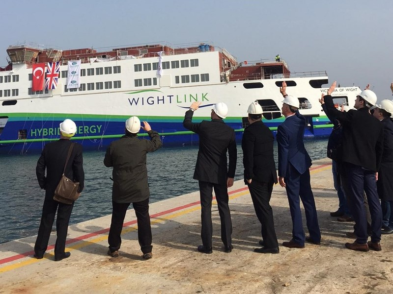 Wightlink launched Victoria of Wight this morning. Photo by Emily Pearce.